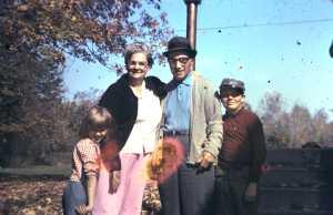 Pop Pop, Nana, my sister, and me. Circa 1970.