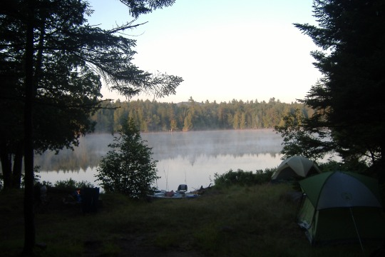 Sunrise in camp